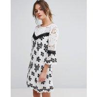 Miss SelfridgeMiss Selfridge Mono Lace Organza Dress - Multi