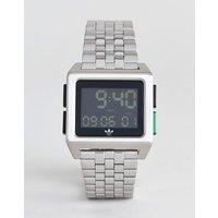 Adidas Z01 Archive Digital Bracelet Watch In Silver - Silver