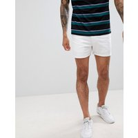 boohooMAN Chino Shorts In White - White