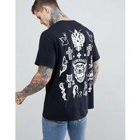 HNR LDN Tattoo Back Print T-Shirt - Black