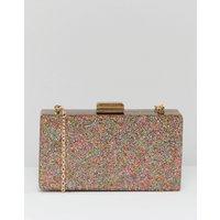 Claudia Canova Glitter Case Clutch Bag With Detachable Chain - Multi
