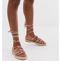 ASOS DESIGN Jester knotted espadrille sandals - Pink