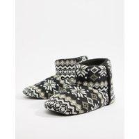 Dunlop Fairsile Boot Slipper - Black