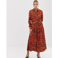 Karen Millen tiger print midaxi dress - Orange/multi