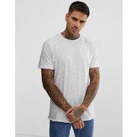 Pull&Bear t-shirt in white nep - White