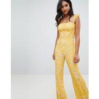 Flynn Skye bloom print jumpsuit - Touch of honey