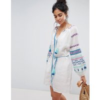 Seafolly Folk Embroidered Dress - White