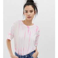 Pull&Bear oversized t-shirt in pink tie dye - Pink
