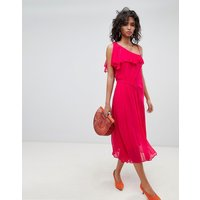 Ghost one shoulder Midi dress - Fuschia