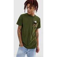 RIPNDIP Lord Nermal Camo Pocket t-shirt in green - Army camo