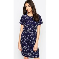 Sugarhill Boutique Julie Stag Print Shift Dress - Navy
