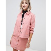 Maison Scotch workwear jacket with contrast stitching - Maloja pink