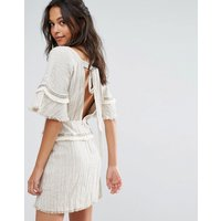 Stevie MayStevie May The Card Players Glitter Mini Dress - Sand