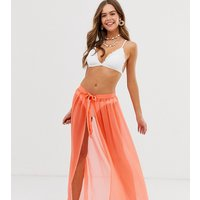 Brave Soul Neon Orange Beach Skirt