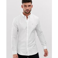 River Island muscle fit oxford in white - White