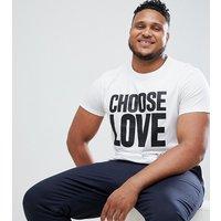 Camiseta blanca de algodón orgánico de Help Refugees Choose Love Plus
