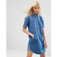 Noisy MayNoisy May Collar Denim Dress - Medium blue denim