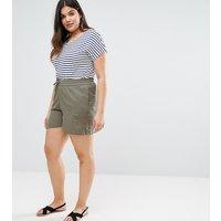 JunaroseJunarose Linen Shorts - Khaki