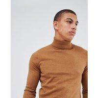 New Look roll neck jumper in camel - Camel