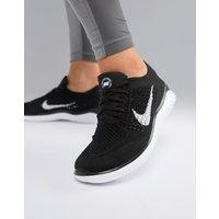 Nike Running Free Run Flyknit Trainers In Black - Black