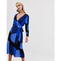 Vero Moda colour block wrap dress