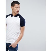 French Connection Raglan Polo Shirt - Marine