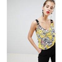 Morgan Cami Top In Bright Floral Print - Multi