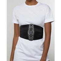 Cinturón ancho y elástico estilo corsé con detalle de anillas de ASOS