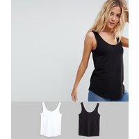 ASOS DESIGN ultimate vest 2 pack SAVE - Black/white