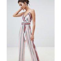 Forever New Stripe Jumpsuit - Stripe
