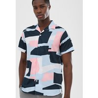 Selected Homme revere collar shirt with all over colour print - Bright white