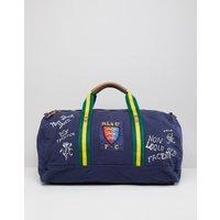 Polo Ralph Lauren Canvas Large Player Logo Duffel Bag In Navy - Navy