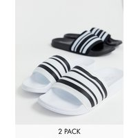 Truffle Collection two pack sliders in black and White - Multi