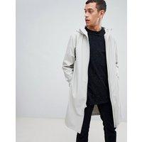 Rains 1241 base long jacket in grey - Grey