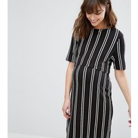 New Look MaternityNew Look Maternity Double Layered Nursing Dress - Black patt
