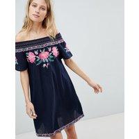 Accessorize Olivia Beach Dress - Navy