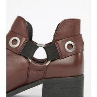 Park Lane Wide Fit Leather Ankle Boots - Conker