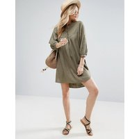 ASOSASOS Casual Smock Shirt Dress - Khaki