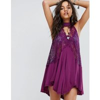 Free PeopleFree People Tell Tale Heart Sleevless Tunic Dress - Plum