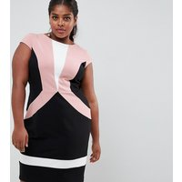 Paper Dolls Plus colour block detail pencil dress - Multi