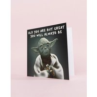 Central 23 Old You Are Yoda Birthday Card - Multi