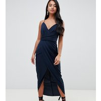 Forever New Petite wrap maxi dress in navy