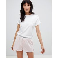 Calvin Klein Cotton Co-ord Sleep Pyjama Top In White - White