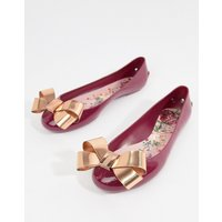 Ted Baker Maroon Bow Detail Ballet Shoes - Maroon