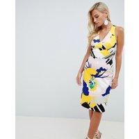 Karen Millen cotton pencil dress in floral print - Multi
