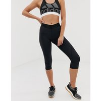 Adidas Alphaskin Capri Leggings In Black