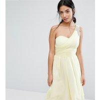 Little Mistress PetiteLittle Mistress Petite One Shoulder Embellished Full Prom Skater Dress - Lemon