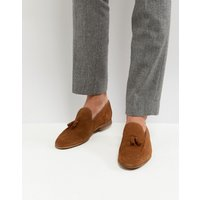 River Island Suede Loafers With Tassels In Tan - Tan