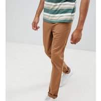 ASOS DESIGN Tall tapered chinos in camel - Rubber