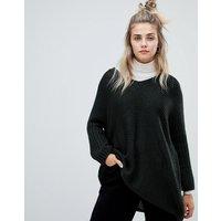 Noisy May deep v-neck oversize jumper - Green